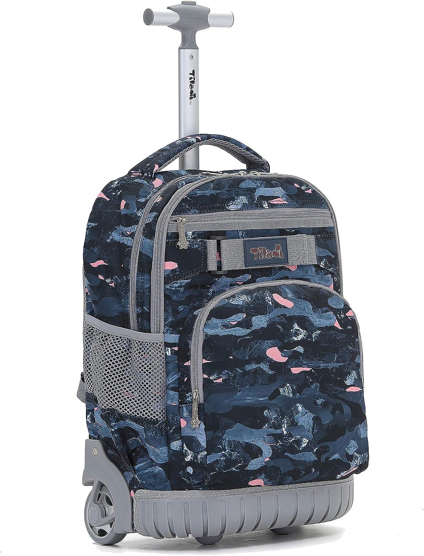 Amazon.com | Tilami Rolling Backpack 19 inch Wheeled LAPTOP Boys Girls  Travel School Student Trip, camouflage | Kids' Backpacks