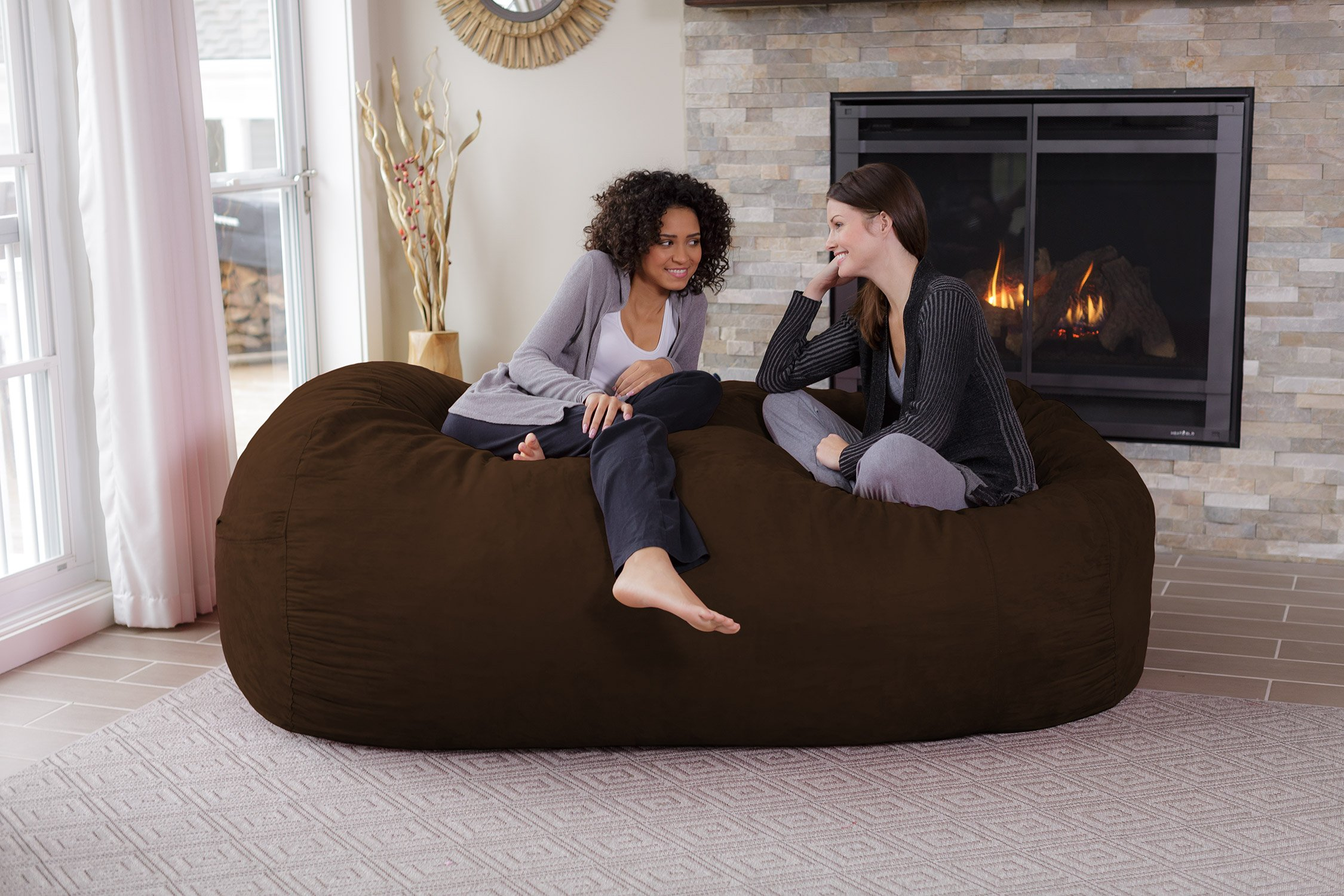 Chill Sack Memory Foam Bean Bag Lounger, 7.5-Feet, Chocolate by Chill Sack (Image #2)