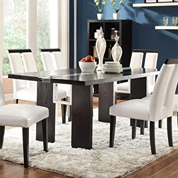 Amazon.com   Coaster Home Furnishings 104561 Contemporary Dining Table,  Black   Tables