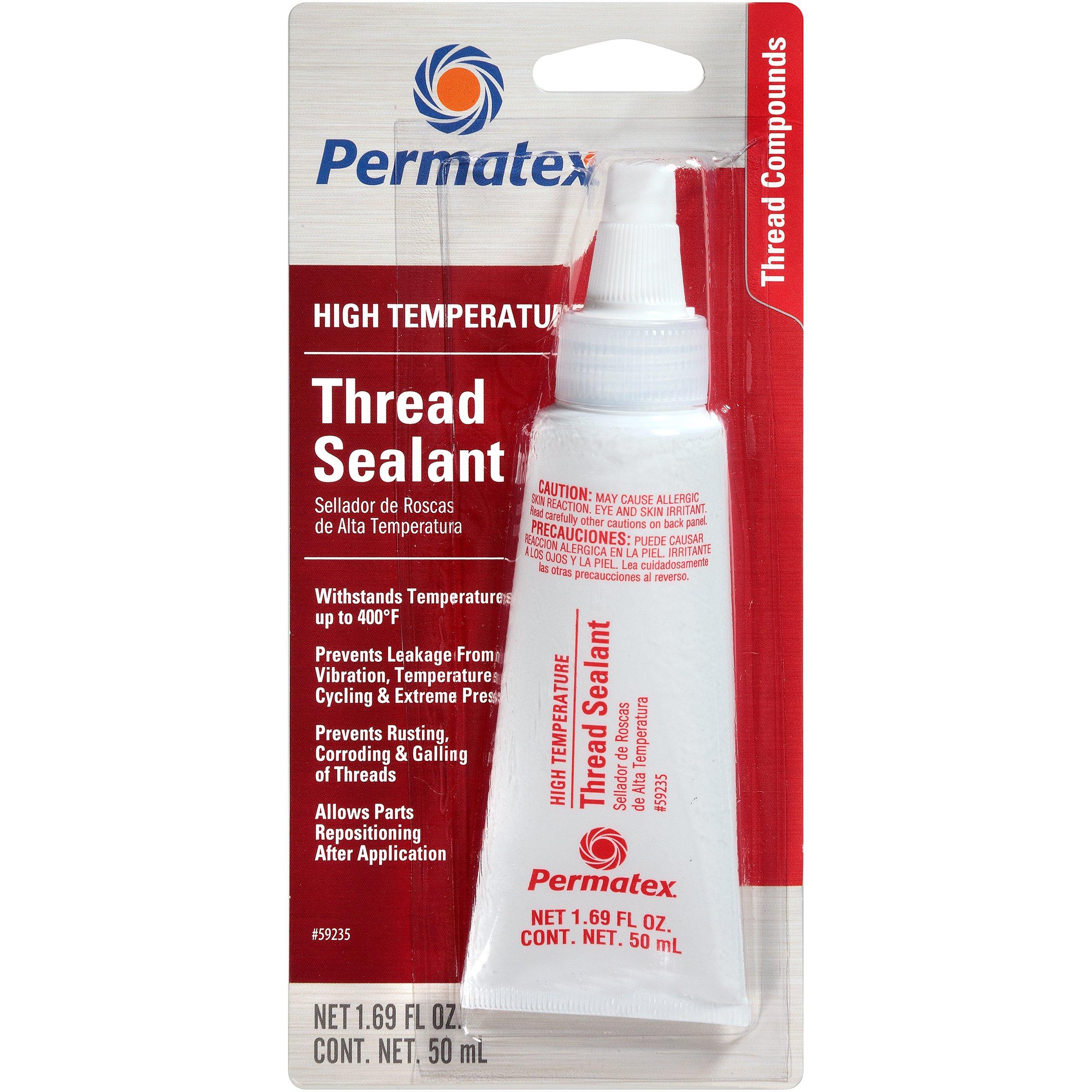 Permatex 59235-6PK High Temperature Thread Sealant, 50 ml (Pack of 6) by Permatex