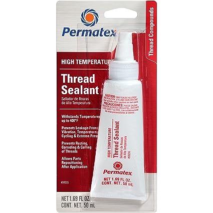 High Temp Sealant >> Permatex 59235 High Temperature Thread Sealant 50 Ml Tube