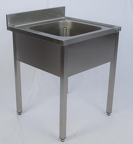 Mobili Cucina Professionale Acciaio.Lavello Professionale 500x500 Una Vasca Su Mobile Aperto
