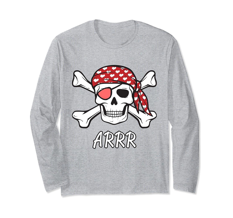 Pirate Crossbones and Skull Long Sleeve T-Shirt-mt