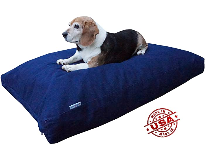 Dogbed4less XL Memory Foam Dog Bed Pillow with Orthopedic Comfort