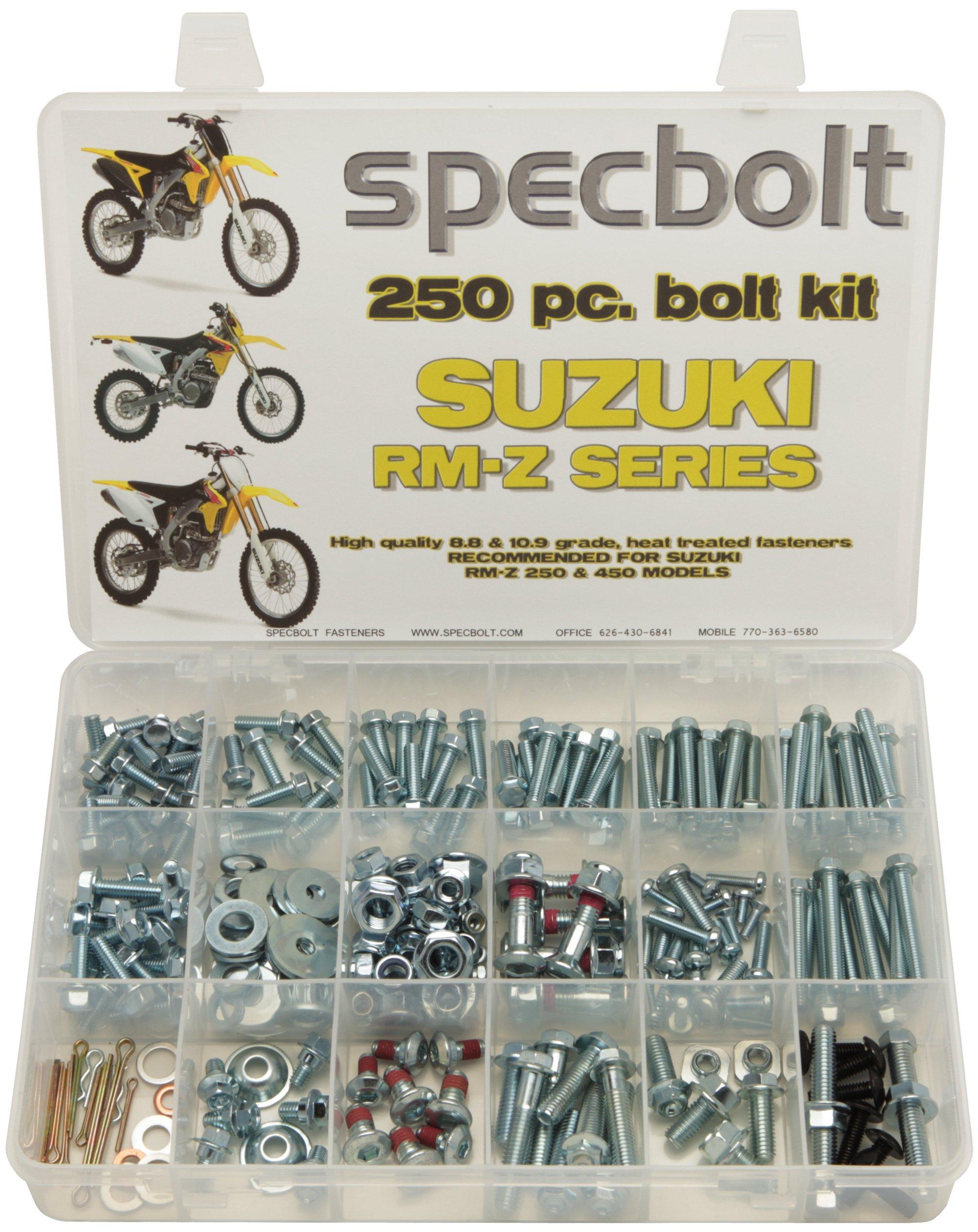 250pc Specbolt Suzuki RMZ 250 or 450 four stroke Bolt Kit for Maintenance & Restoration of MX Dirtbike OEM Spec Fastener RM-Z RM-Z250 RM-Z450 RMZ250 RMZ450