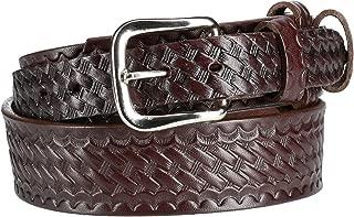 product image for Boston Leather Men's Big & Tall Basketweave Leather Ranger Belt