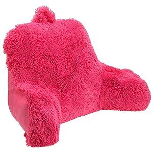 Brentwood Shagalicious Bedrest, Hot Pink