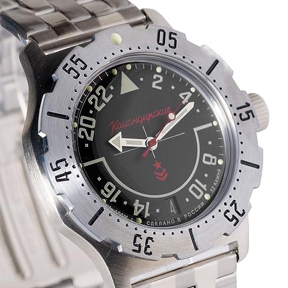 Vostok - Komandirskie - K-35 - 350617 - Reloj de pulsera ruso con mecanismo