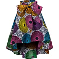 Shenbolen Women African Traditional Costume Flower Print Casual Dashiki Skirt