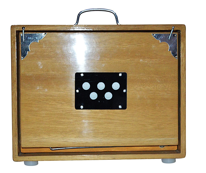 Nasir Ali SHRUTI BOX~BHAJAN~SWAR PETI~TEAK WHANDY C TO C 13 NOTA CON BAG