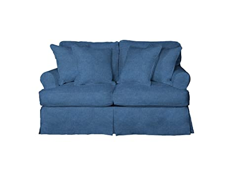Amazon.com: Sol Trading Horizon slipcovered Loveseat ...