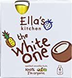 Ellas Kitchen Organic The White One Fruit Smoothie 4x90 g (Pack of 3, Total 12 Pouches)
