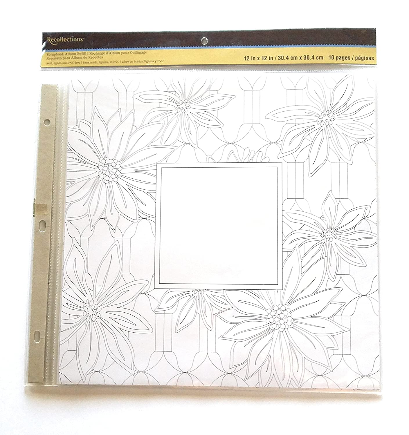 Recollections 10-Sheets Scrapbook Album Refill Pages 12x12 (2 Pack)