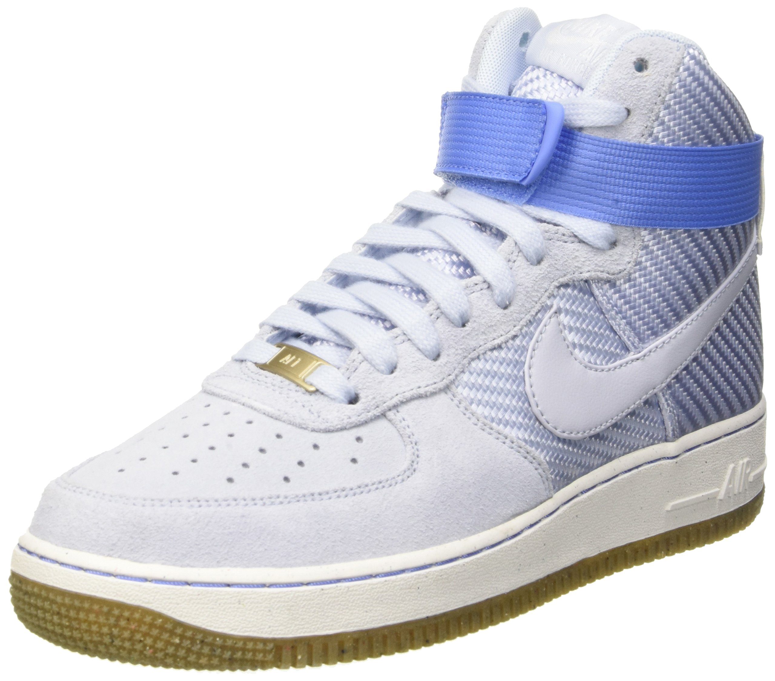 Nike Womens Air Force 1 Hi Prm Porpoise/Porpoise Basketball Shoe 8 Women US