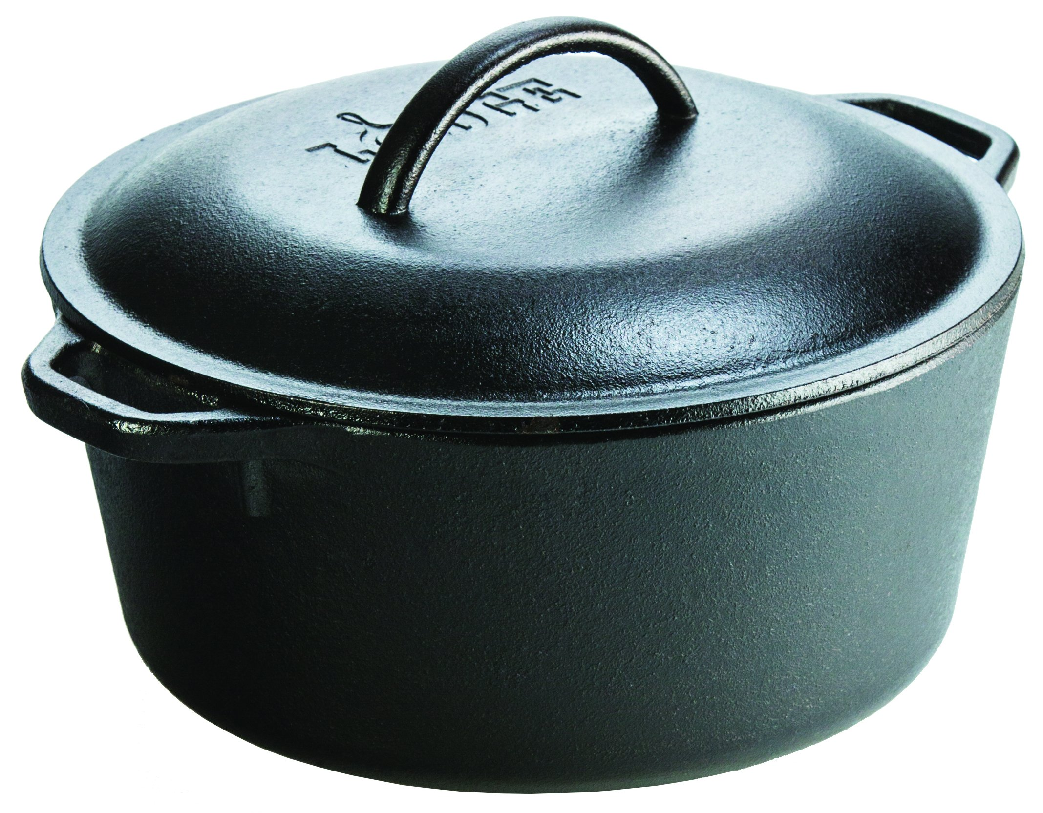 "Lodge Seasoned Cast Iron 5 Piece Bundle. 10.5"" Griddle, 8"" Skillet, 10.25"" Skillet, 10.25"" Dutch Oven, and 10.25"" Lid by Lodge (Image #7)"