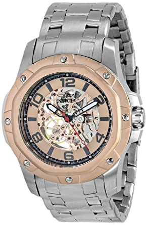 Amazon.com: Invicta Mens 16128 Specialty Analog Display Mechanical Hand Wind Silver Watch: Invicta: Watches