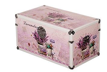 Sarah B Truhe Kiste Kd 1514 Lavendel Deko Holztruhe Mit Glattem