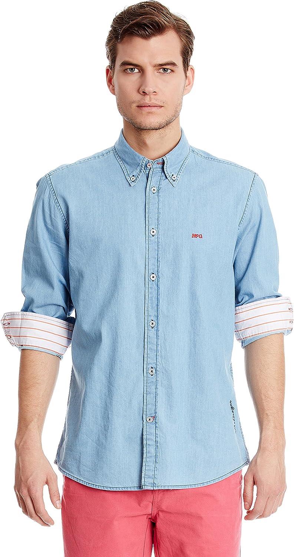 McGregor Camisa Vaquera James Ricardo Azul XL: Amazon.es: Ropa y accesorios