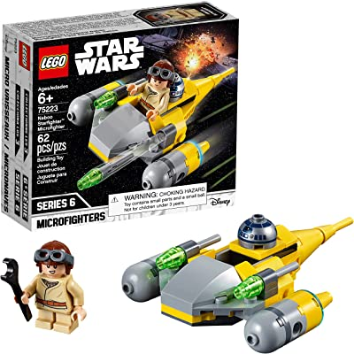 LEGO Star Wars Naboo Starfighter Microfighter 75223 Building Kit (62 Pieces): Toys & Games