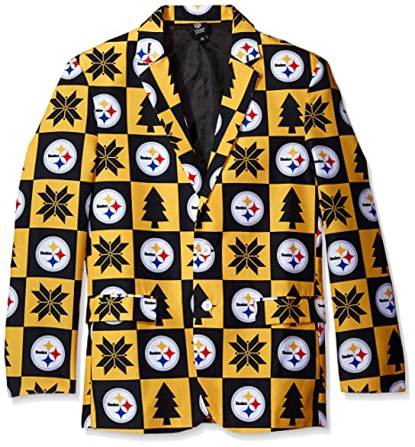 quality design 6fce2 7c2a3 Pittsburgh Steelers Patches Ugly Business Jacket - Mens Size 46