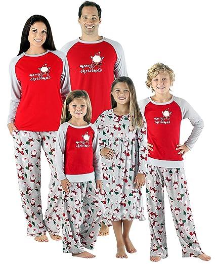 5f5386f7e6 SleepytimePjs Christmas Family Matching Fleece Santa Pajama PJ Sets-Kids -  Lounge Set (STMF