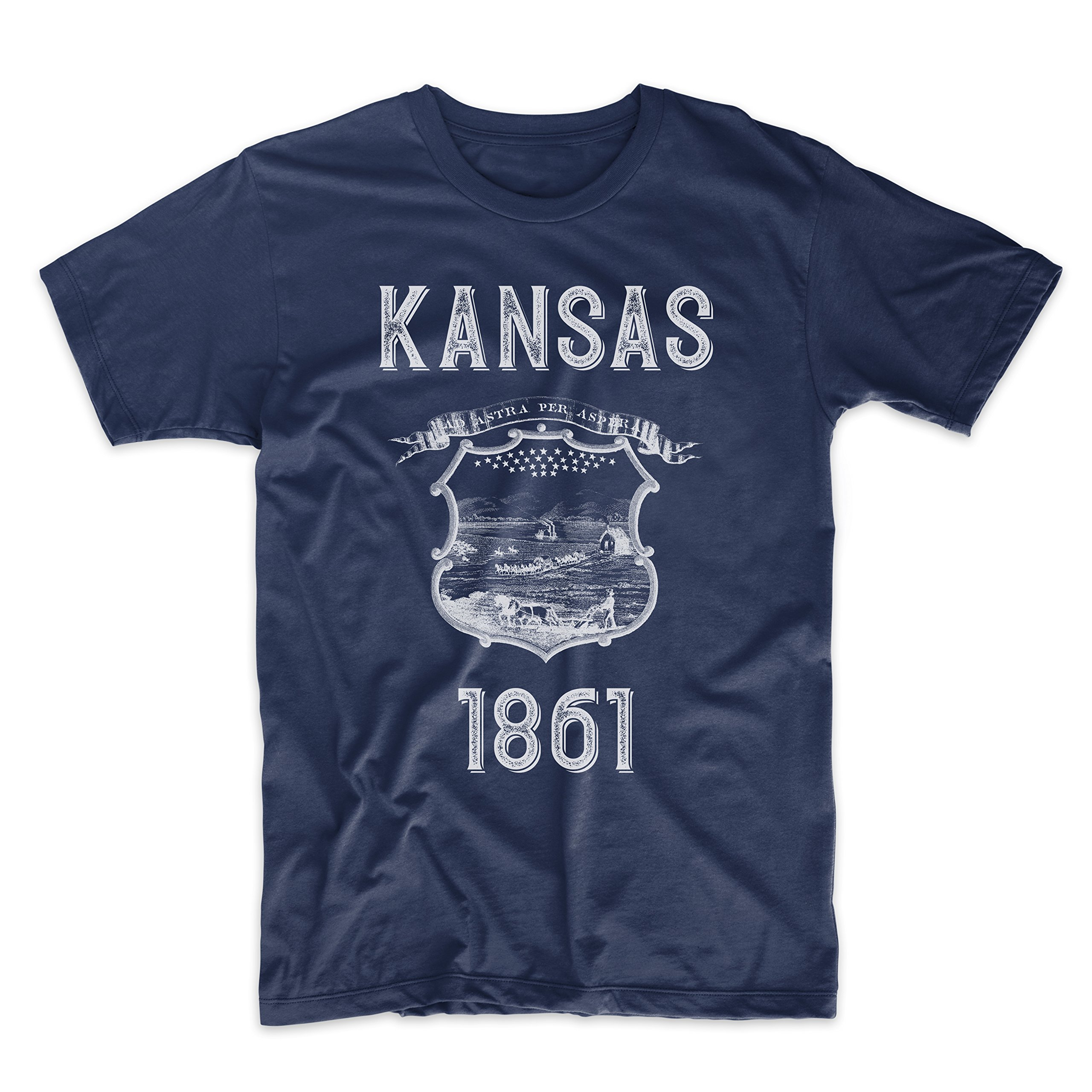 PatentPrints Kansas Coat of Arms T Shirt