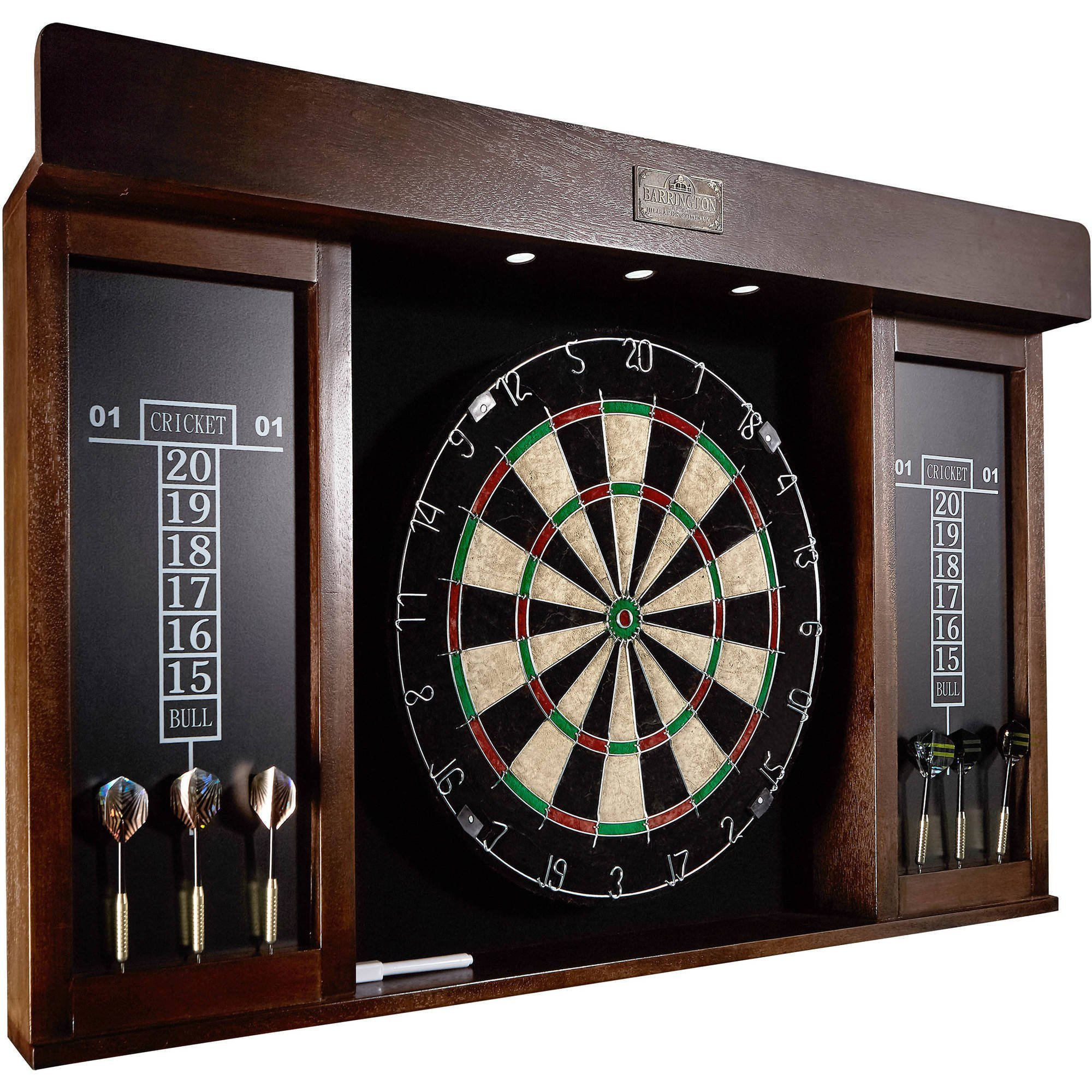 Barrington 40 Inch Dartboard Cabinet with LED Light