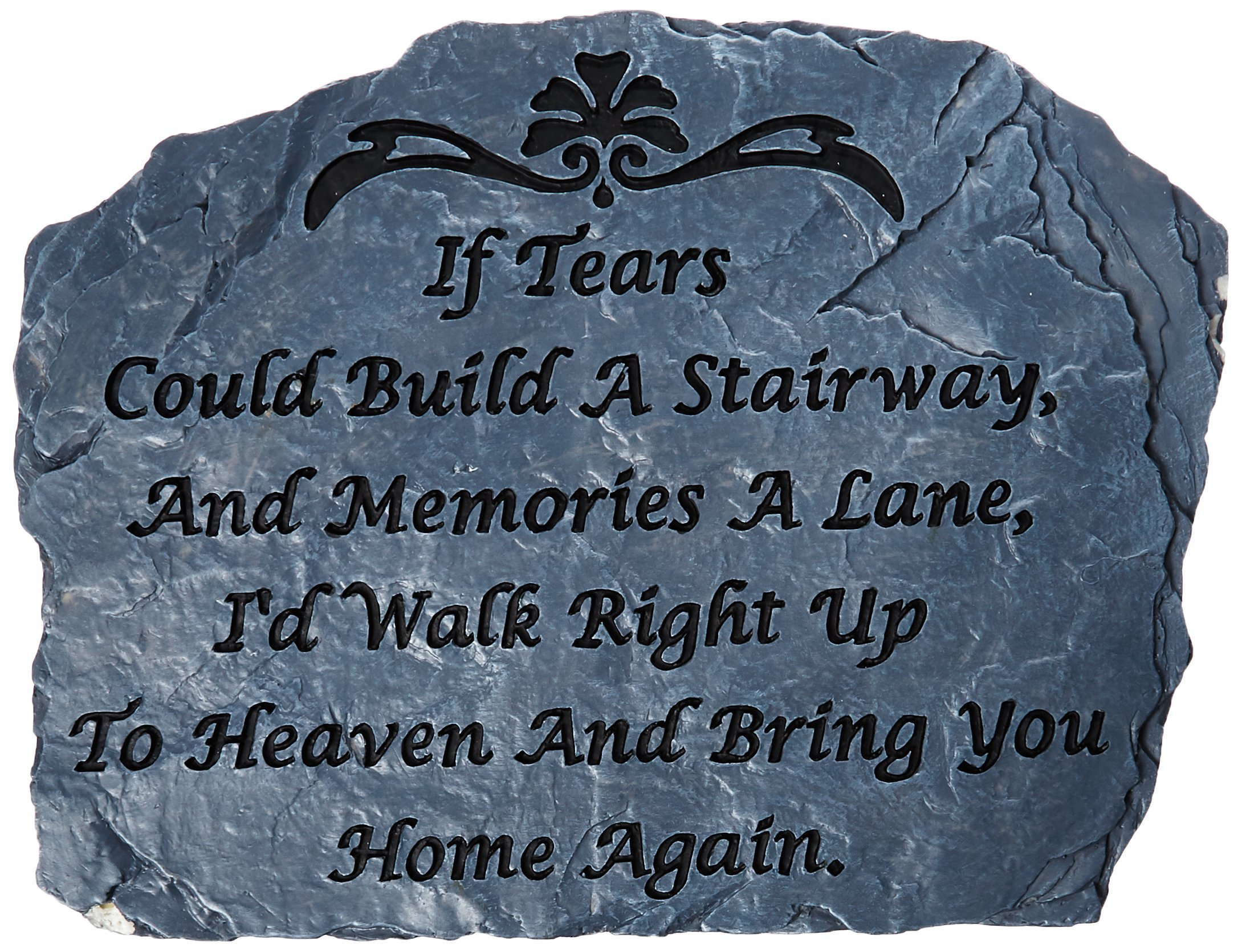 Carson Home Accents Garden Stone, 10.5-Inch by 8-Inch, Tears (Discontinued by Manufacturer)