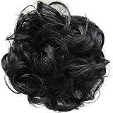 PRETTYSHOP Hairpiece Hair Rubber Scrunchie Scrunchy Updos VOLUMINOUS Curly Messy Bun