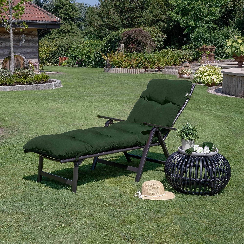 Beautissu Auflage f/ür Garten-Liege Flair RL 190x60x8cm Sitz-Polster f/ür Sonnenliege Schaumflocken-F/üllung Natur erh/ältlich