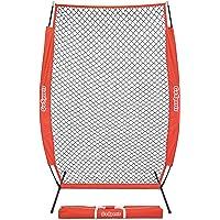 GoSports - Red de béisbol y softball para visualización de 7' x 4' con visualización en forma de I, imprescindible para un entrenamiento seguro, incluye marco de arco plegable y bolsa de transporte portátil