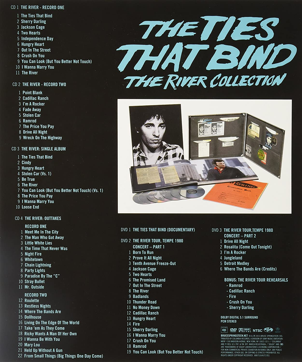 Bruce Springsteen  The Ties That Bind: The River Collection  Amazon  Music