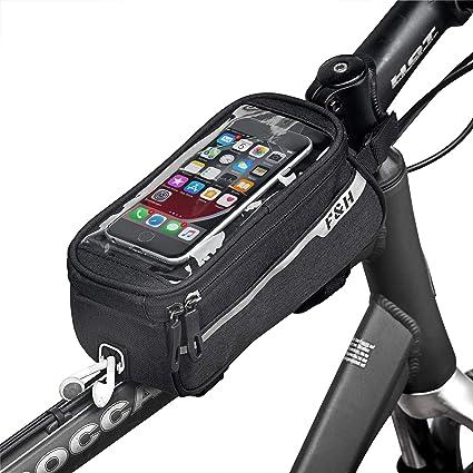 Sacoche de vélo Cadre Sac Vélo Sac Tube Sac écran Tactile Smartphone
