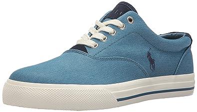 3685eb418c63 Polo Ralph Lauren Men s Vaughn-Colored Denim Sneaker Blue 7 ...