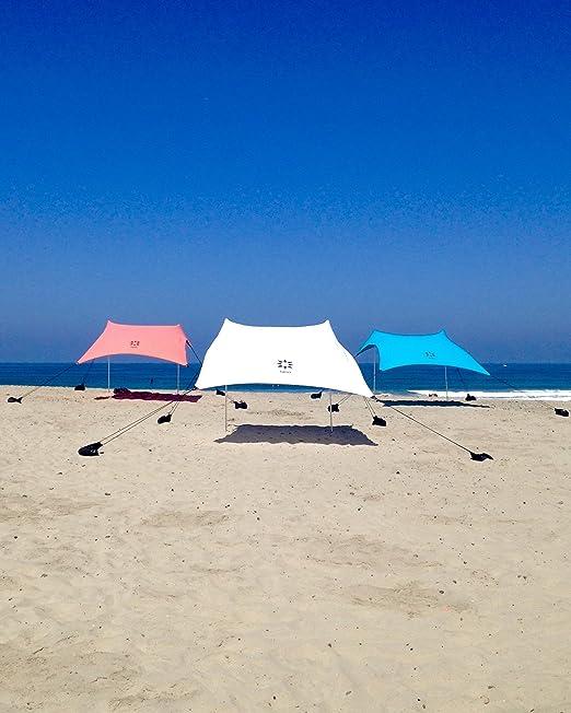 """69 opinioni per Sand Anchor-Tenda da spiaggia con tettuccio parasole, 82"""" x 80"""", per portatile,"""