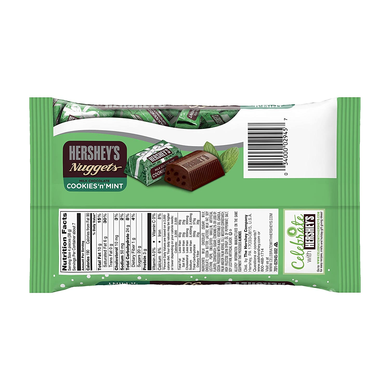 Amazon.com : Hershey\'s Holiday Nuggets Milk Chocolate Cookies \'n ...