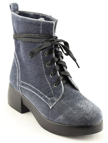 Women's Shoes Comfort Velvet Lace Up Combat Boots Ankle Boots
