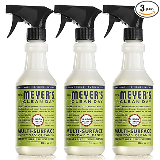 Mrs. Meyer's Multi-Surface Everyday Cleaner, Lemon Verbena, 16 Fluid Ounce (Pack of 3)