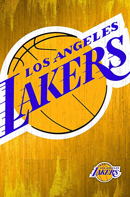 Amazon trends international los angeles lakers logo wall poster trends international los angeles lakers logo wall poster 22375quot voltagebd Image collections