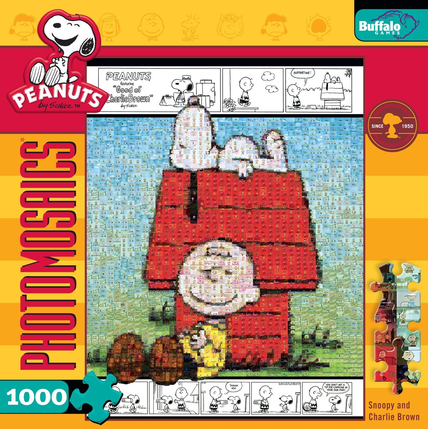 Buffalo Games Peanuts Photomosaic: Snoopy & Charlie Brown