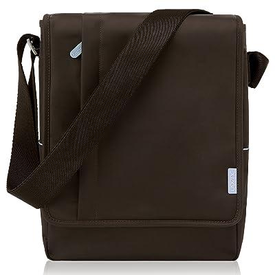 12 Inch MacBook Bag, Duzign Carrier Vertical Messenger Bag (Brown)