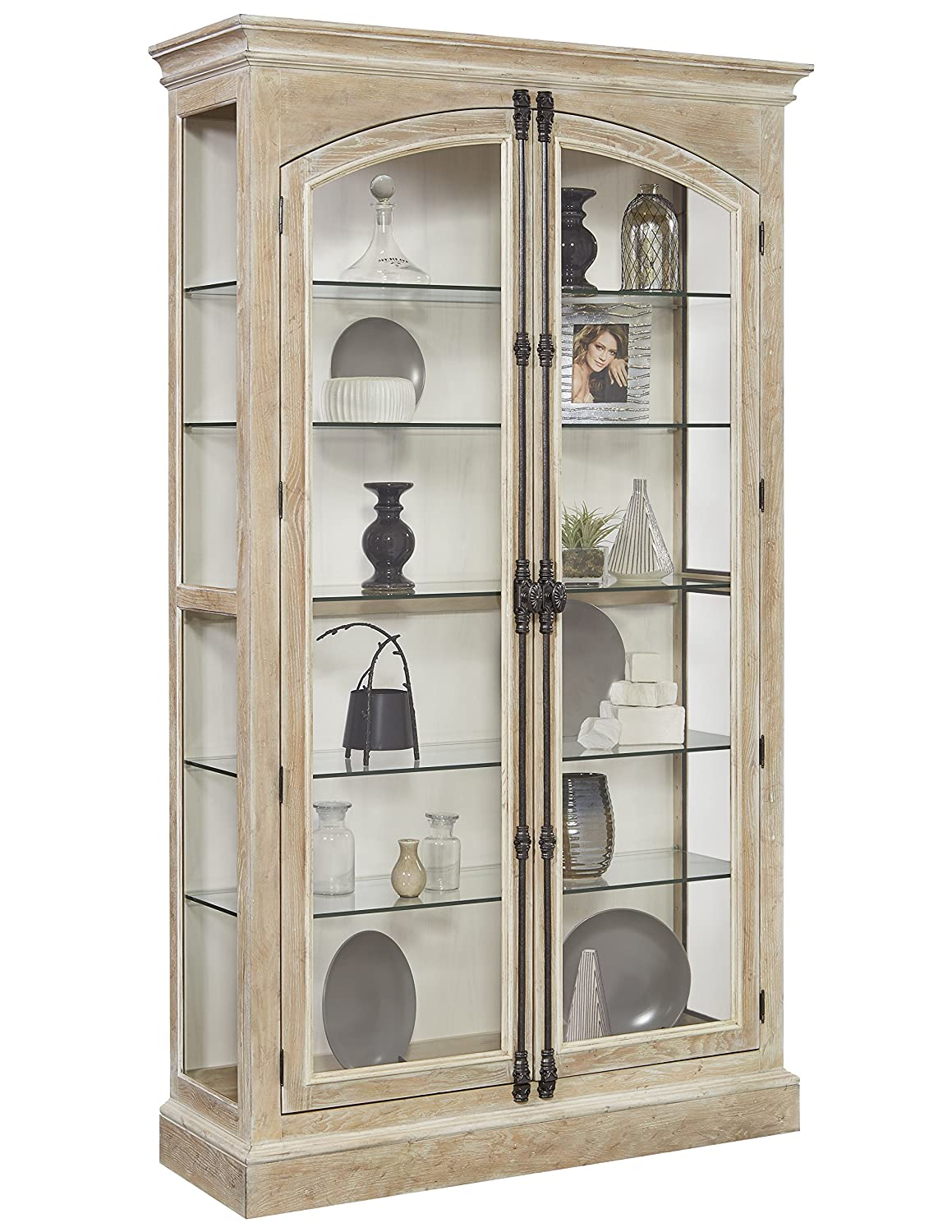 Pulaski Hailey Cremone Door Curio Cabinet, Brown