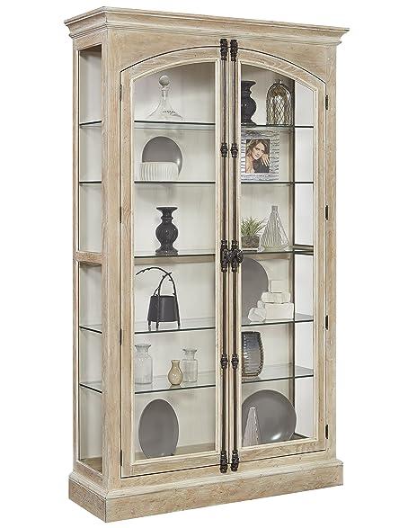 Amazon.com - Pulaski Hailey Cremone Door Curio Cabinet, Brown ...