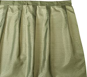 Carnation Home Fashions Lauren Dobby Fabric Sink Skirt, 56-Inch by 32-Inch, Sage