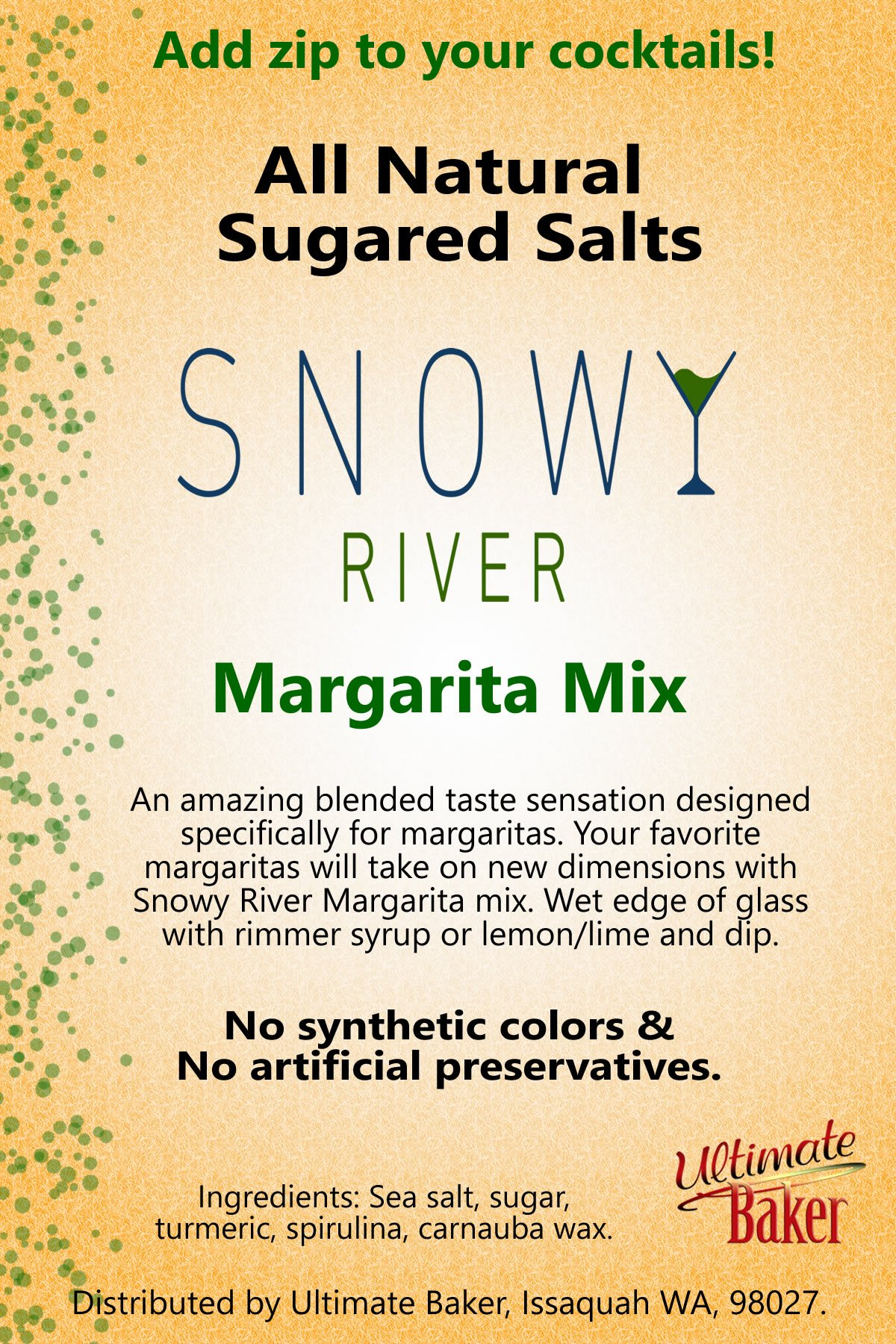 Snowy River Cocktail Sugared Salts Margarita Mix (1x5lb) by Snowy River Cocktails (Image #1)
