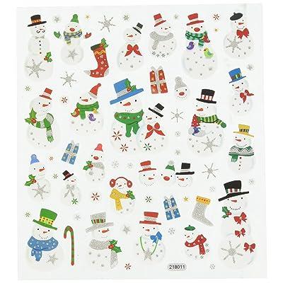 Tattoo King SK129MC-1271 Multicolored Sticker, Glitter Snowmen: Arts, Crafts & Sewing