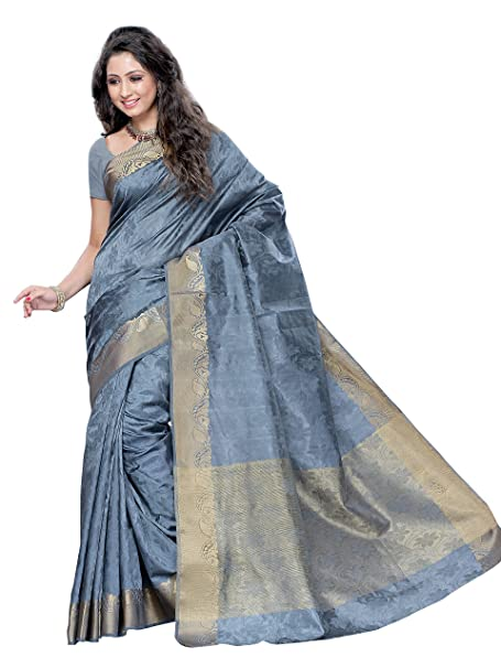 e4f4e807771c3 MIMOSA Women s Silk Saree with Blouse Piece