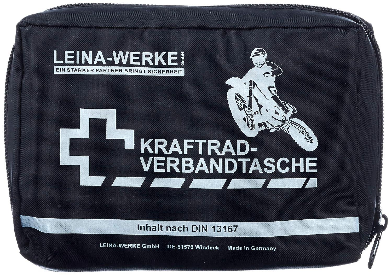 Leina Werke Ref 17010 Leina Kraftrad Verbandtasche Inhalt Din 13167 Schwarz Auto