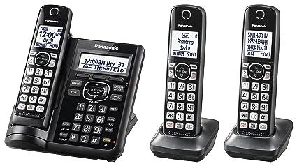 7104e6bce Amazon.com   PANASONIC Cordless Phone System with Answering Machine ...
