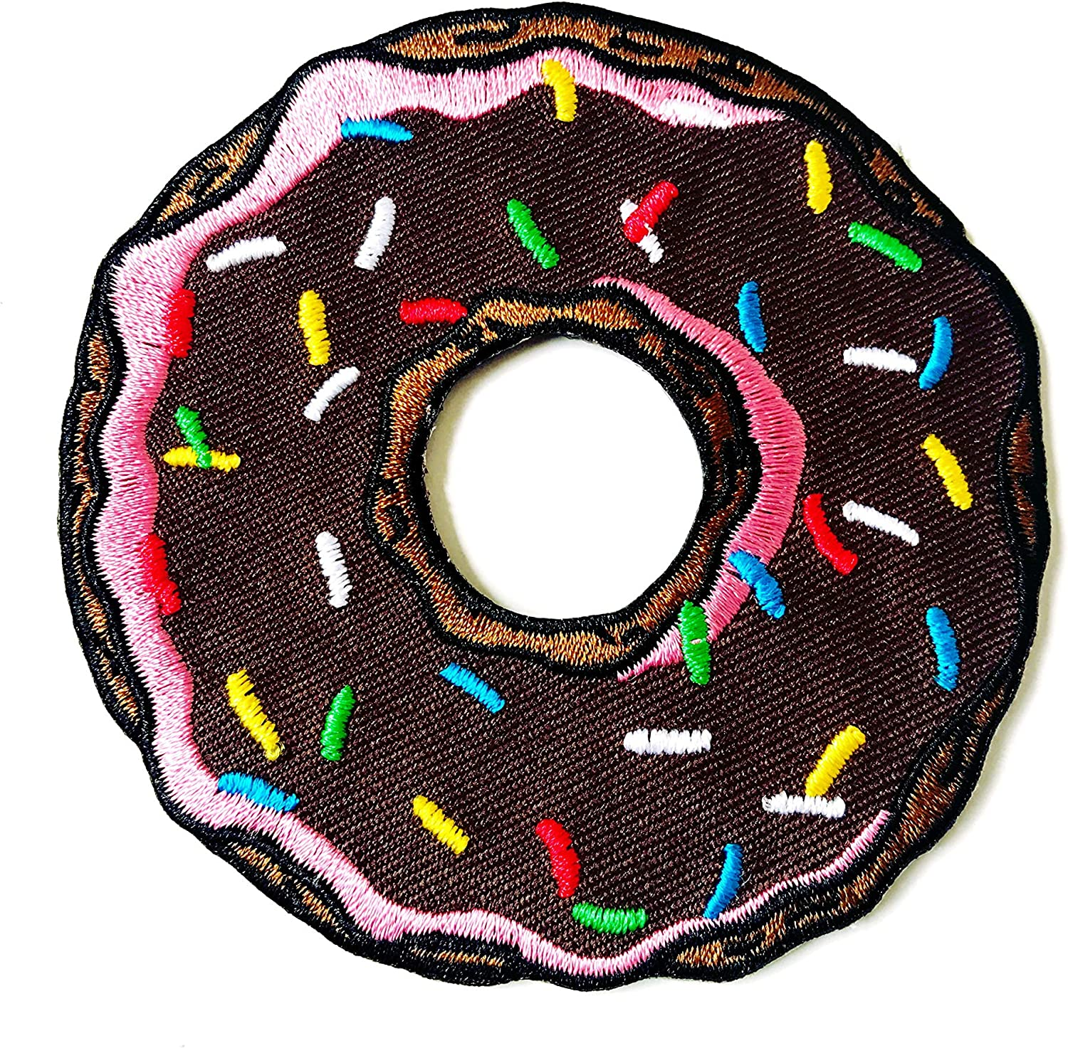 Chocolate Doughnut Donut Sweet T-Shirt Bags Jackets Jeans Clothes Embroidered Iron on Patch